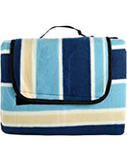 ZPOKAE xtra Large Picnic Blanket,Outdoor Picnic Rug with Waterproof Backing,Sandproof Beach Mat, 150 x 200 cm