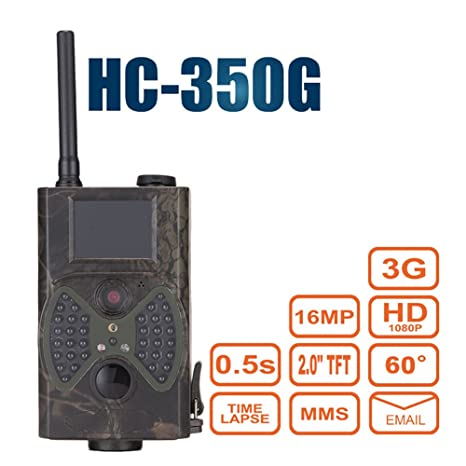 hc-350g Trail Cámara 3 G SMS mms gprs SMTP Wildlife cámara 16 Mp Hd
