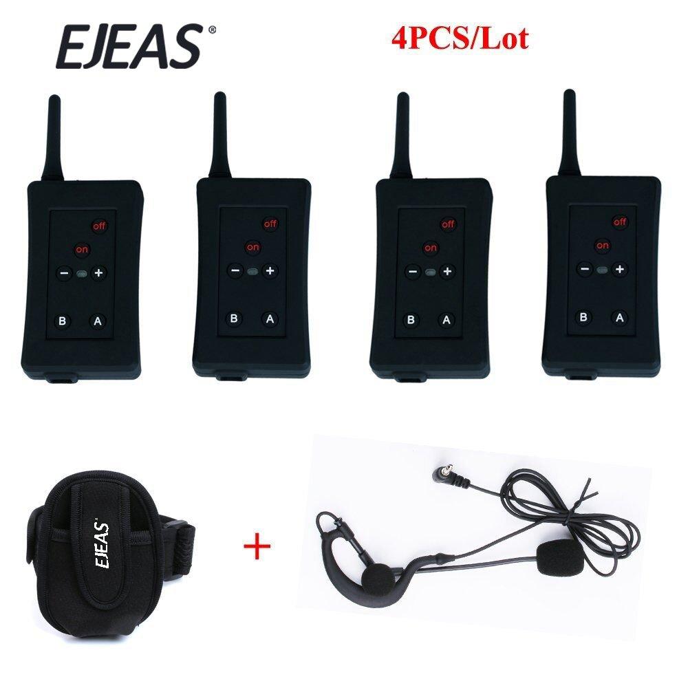 Vnetphone Football Referee Intercom Headset FBIM 1200M Wireless Full Duplex Bluetooth Interphone with FM 800mah 4 sets/lot