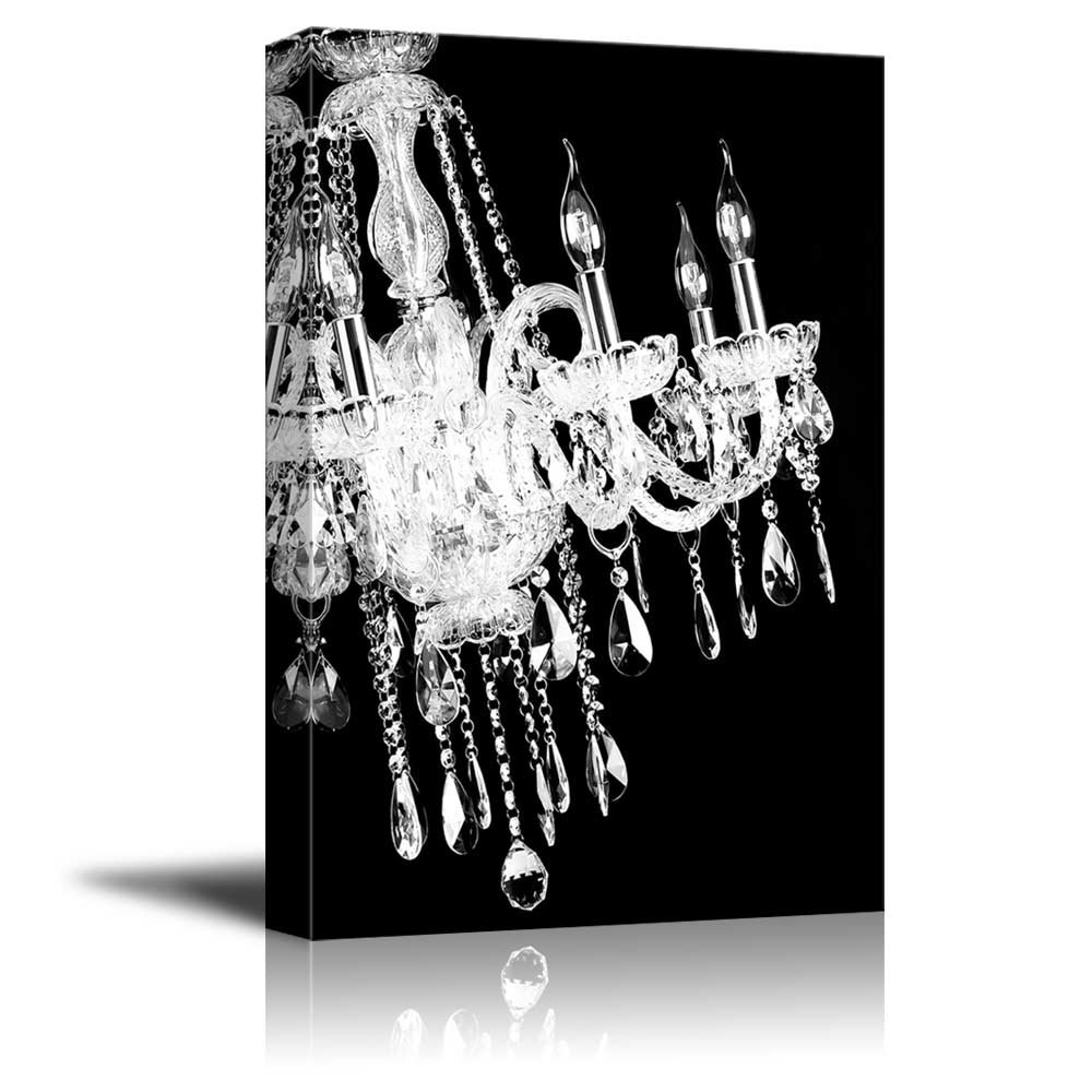 Love The Wall Finishes Chandelier And The Overall Tuscan: Wll Art Crystal White Chandelier On Black Background And