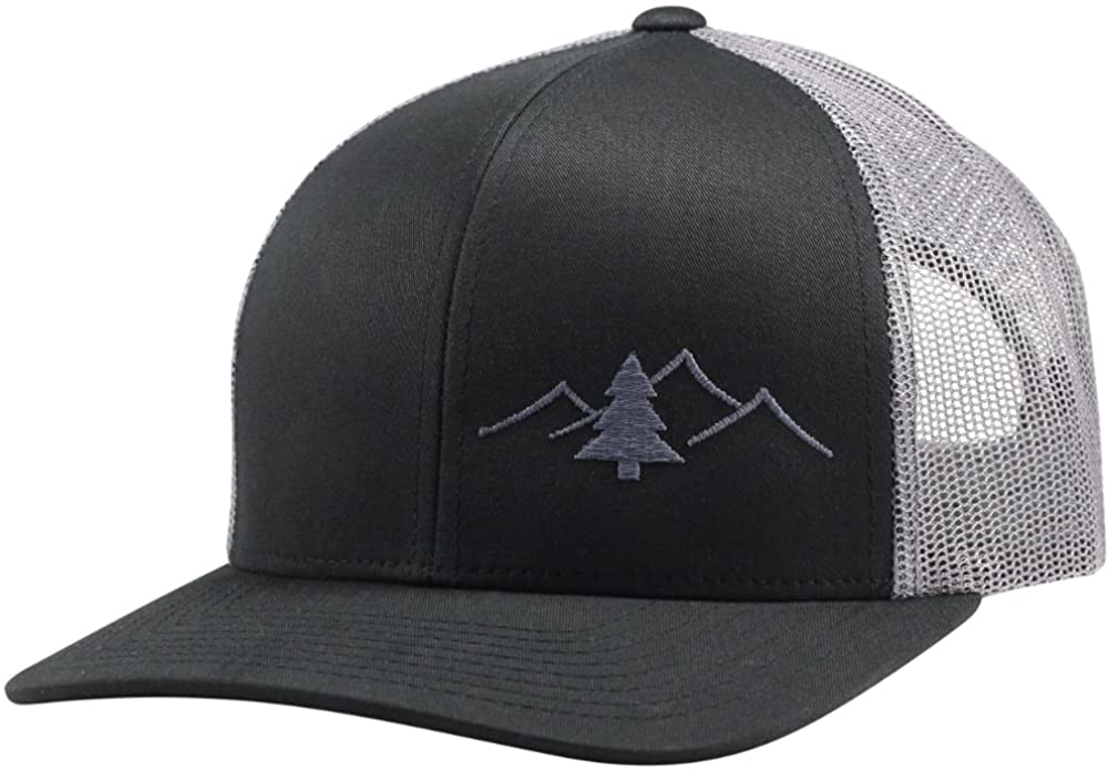 LINDO Trucker Hat - Great Outdoors Collection (Black/Graphite): Clothing