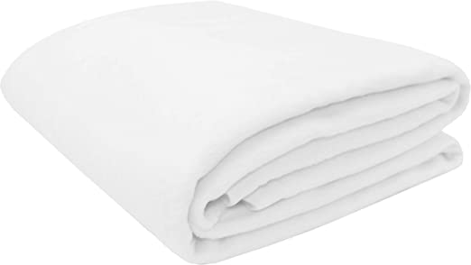 ZOLLNER Manta para Cama 90, Blanca, 60% algodón, Medidas ...