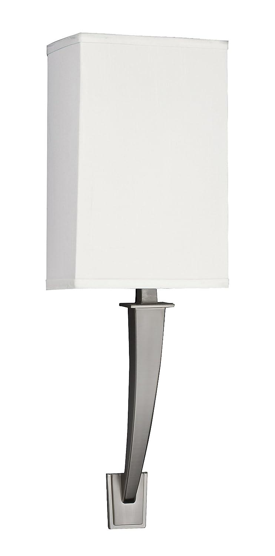 Lighting by AFX SHS113SNMV-LA Sheridan Multi-Volt 1-13 Watt GU24 Wall Sconce Satin Nickel Finish with Linen Acrylic Shade