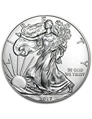 2017-1 Ounce American Silver Eagle Low Flat Rate Shipping .999 Fine Silver Dollar Uncirculated Us Mint