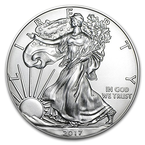 Uncirculated Silver Eagle Dollar Coins - 2017-1 Ounce American Silver Eagle Low Flat Rate Shipping .999 Fine Silver Dollar Uncirculated Us Mint