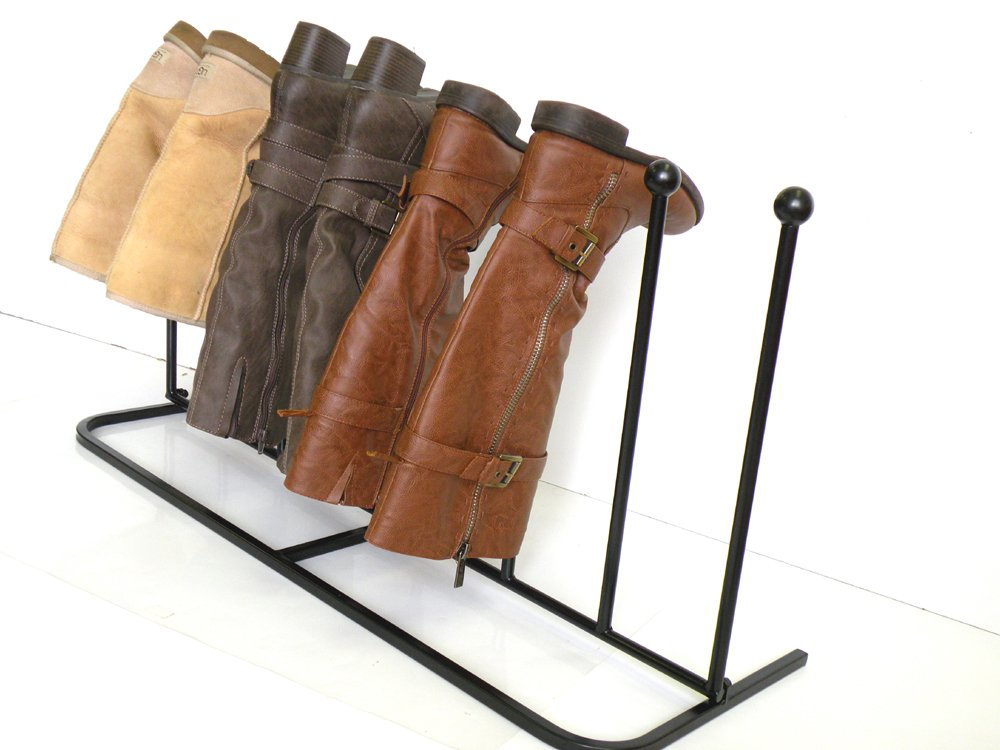 """Boot Rack ,Boot Organizer:""""Eagle iRoot"""" Creative Indoor/Outdoor Wrought Iron Boot Rack Stand , Elegant & Steady Boot Organizer - Perfect for Storing & Drying .Compact Size Allows for Unobtrusive and Portable Storage of Your Boots. No More Tripping Ove by Eastern Cloud (Image #2)"""