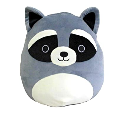 "Squishmallow Kellytoy 8"" Raccoon Super Soft Squishy Plush Toy Pillow Pet: Toys & Games"