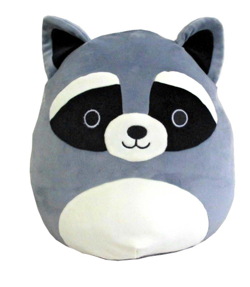 Squishmallows Kellytoy 16'' Raccoon Super Soft Plush Toy Pillow Animal Pet Pal Buddy (Grey Raccoon)