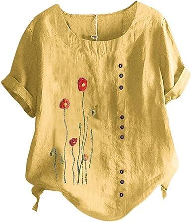 Fossen Blusas y Camisas de Mujer Verano Tallas Grandes ...