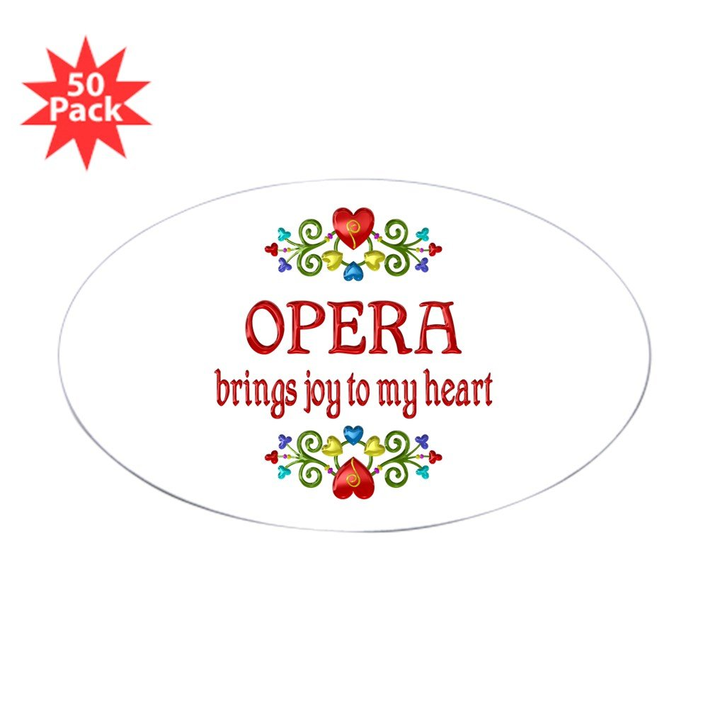 CafePress - Opera Joy - Sticker (Oval 50 pk)