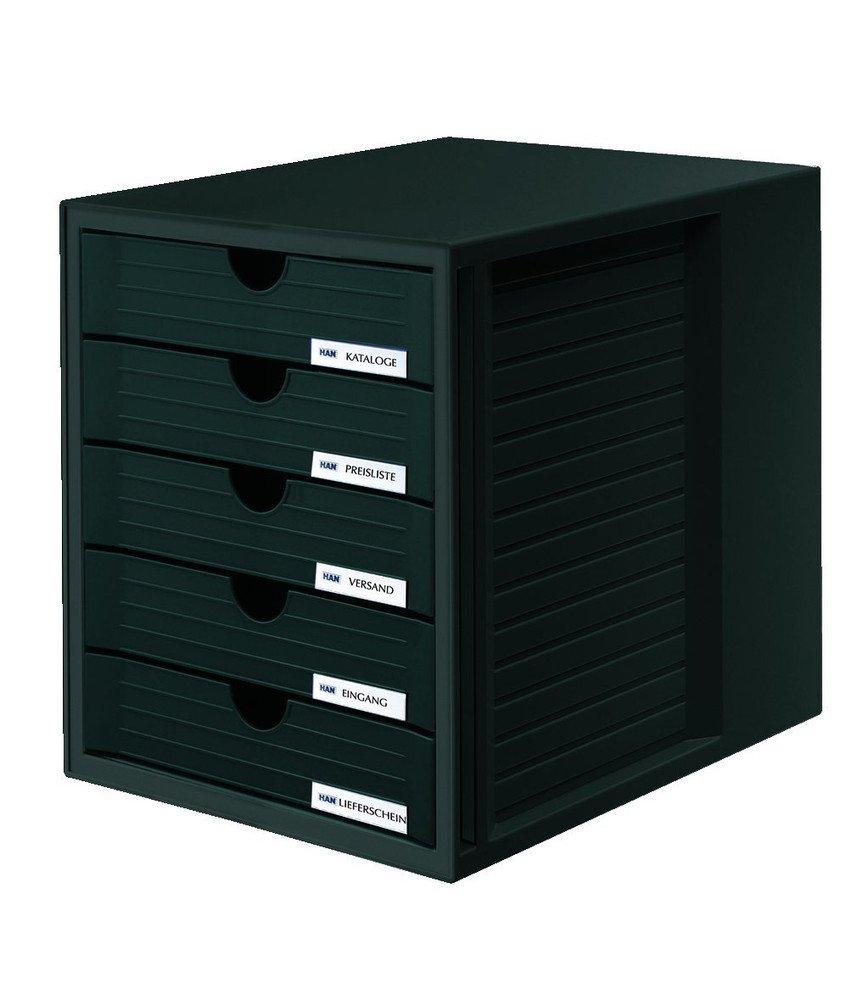 schwarz 27,5x32x33cm Schubladen geschlossen Schrank-Set System-Box