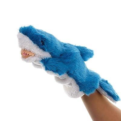 Marioneta Marioneta de Mano Juguetes de Peluche Animal Shark Story Juguete Muñecos Blandos for niños Juego de Juguete for niños (Color : Blue): Hogar