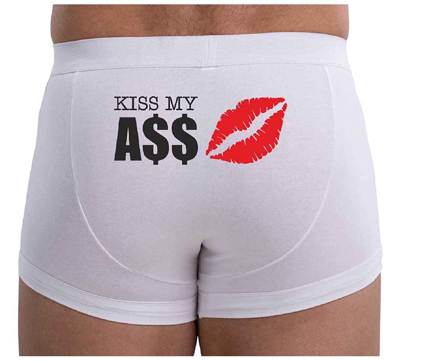 d61ad7b6e760 MySexyShorts Men's Boxer Brief White Cotton Underwear with Sexy Funny  Artwork at Amazon Men's Clothing store: