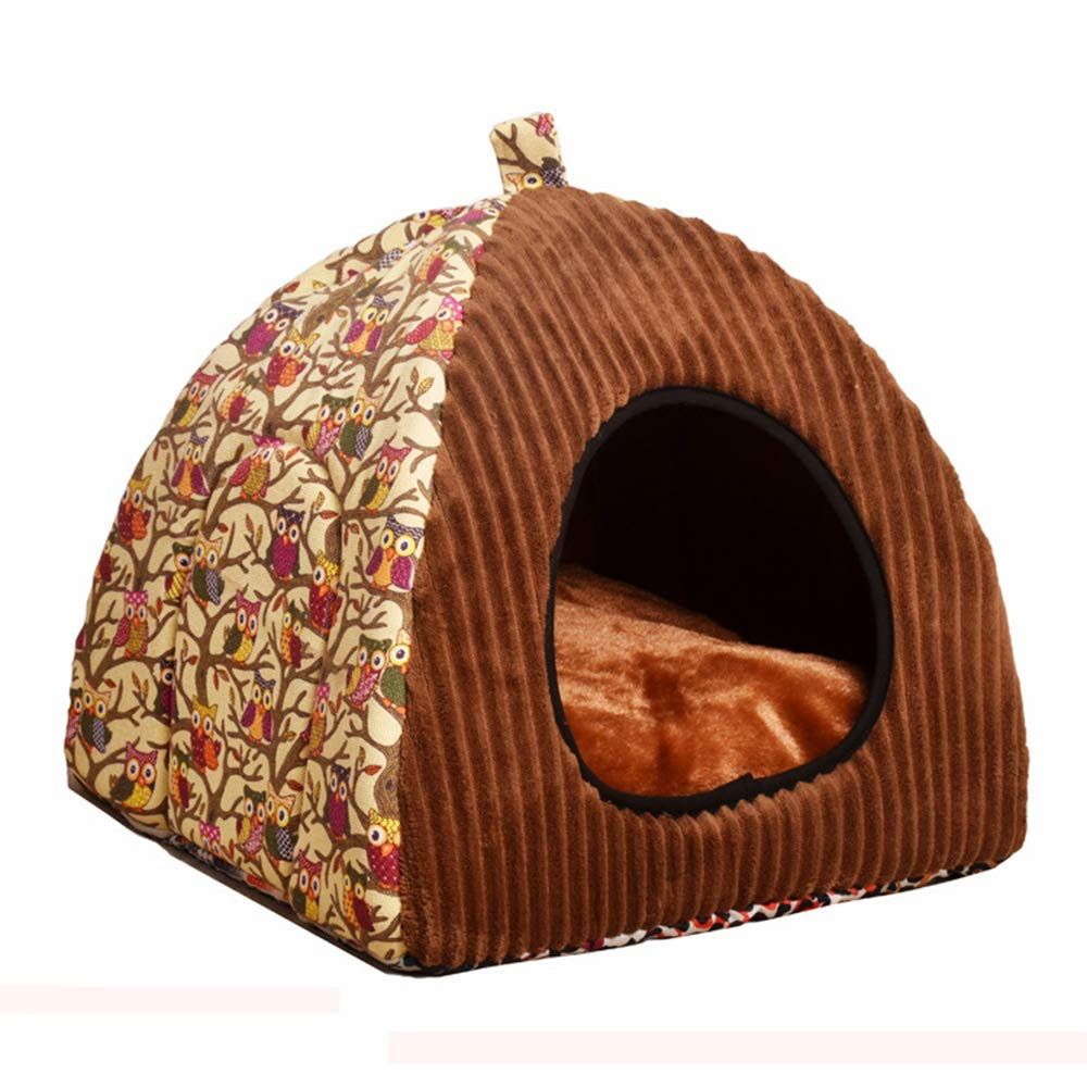 2 Large 2 Large Cats Dogs Sleeping House,Warm and Soft Kennel Bed with Pet Mat,Indoor Perfect Furniture Decoration,2,L