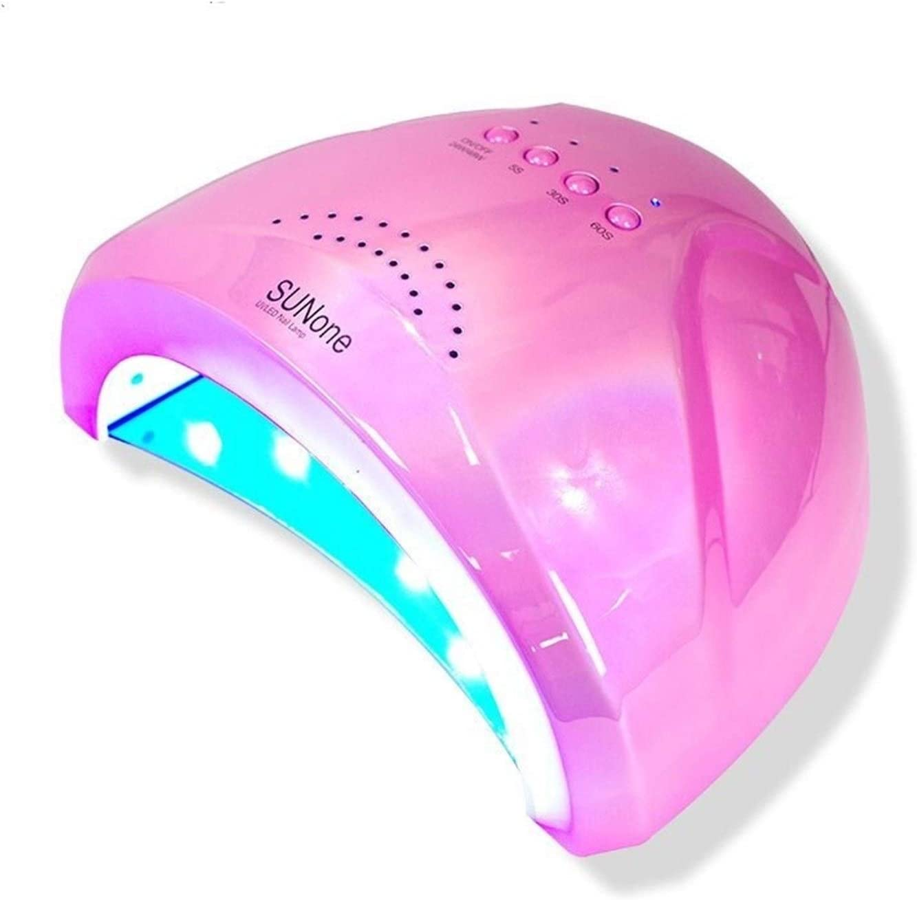 Amazon Com Nail Dryer Colorful Led Uv Nail Lamp For Nail Gel Polish Uv Led Nail Light Nail Dryer Uv Lamp Colorful 48w Sunone Uv Led Lamp For Nails Color Pink Lamp