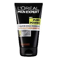 L'Oreal Men Expert Pure Power Tägliche Kohle-Reinigung, Anti-Hautunreinheiten, 150 ml