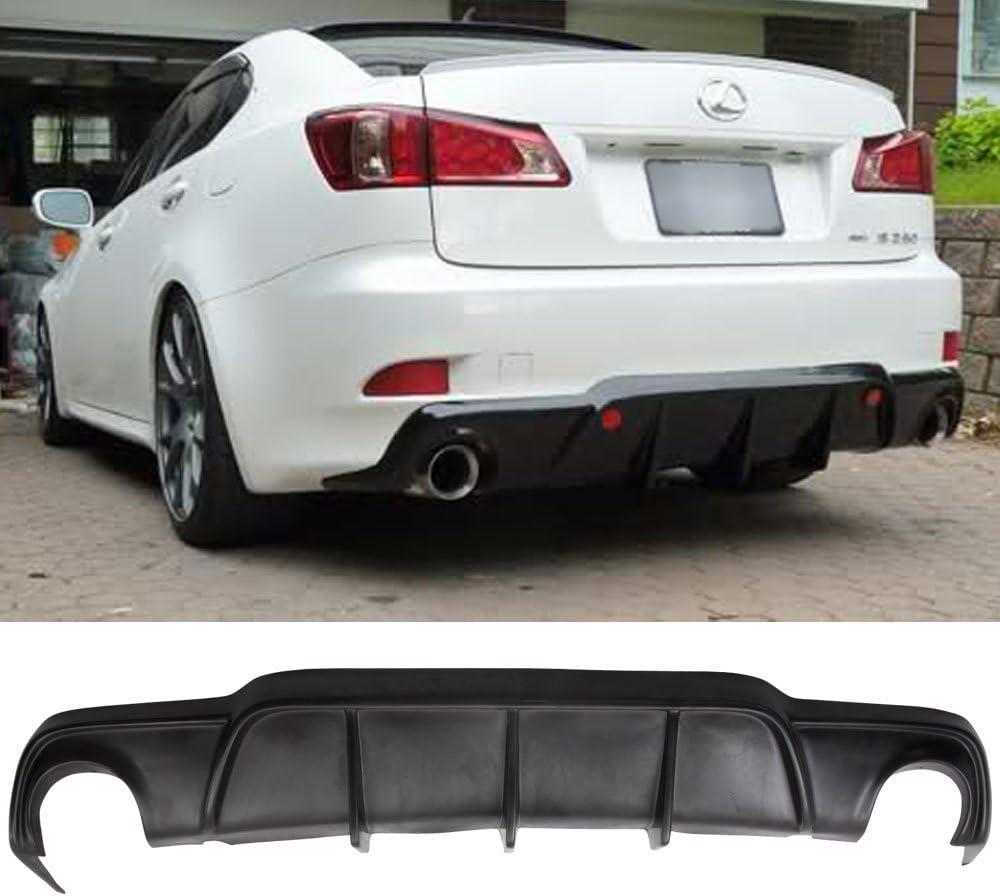 2007 2008 2010 2011 Rear Bumper Lip Fits 2006-2013 Lexus Is250 Is350 Black PU Rear Lip Finisher Under Chin Spoiler Underspoiler Splitter Valance Underbody Bumper Fascia Add On by IKON MOTORSPORTS
