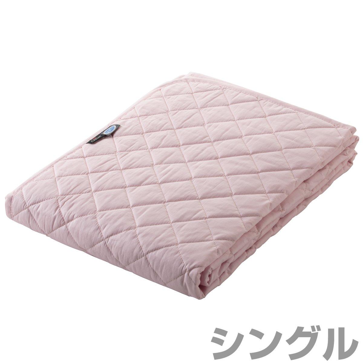 トクナガ アウトラスト®敷パッド 国産 シングル ピンク OLAMSP-1PI B01HT89SNK  ピンク シングル