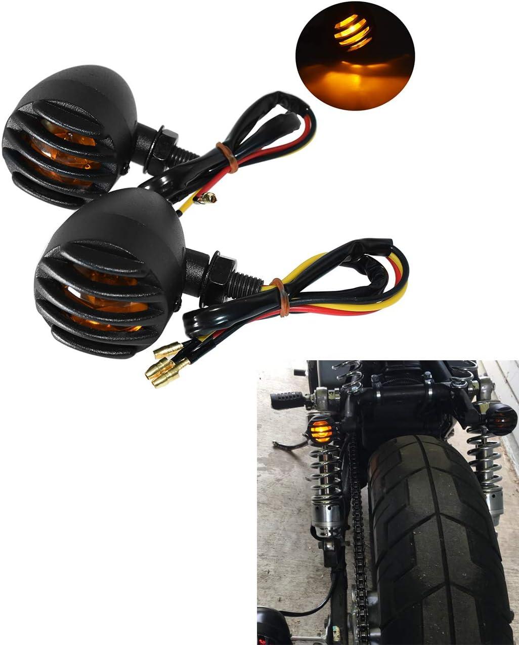 YHMTIVTU Motorcycle Turn Signals Light Bullet Heavy Duty Indicators Blinkers Lights Universial fit for Harley Kawasaki Honda Yamaha Suzuki BMW Ducati KTM Chopper Bobber Cruiser