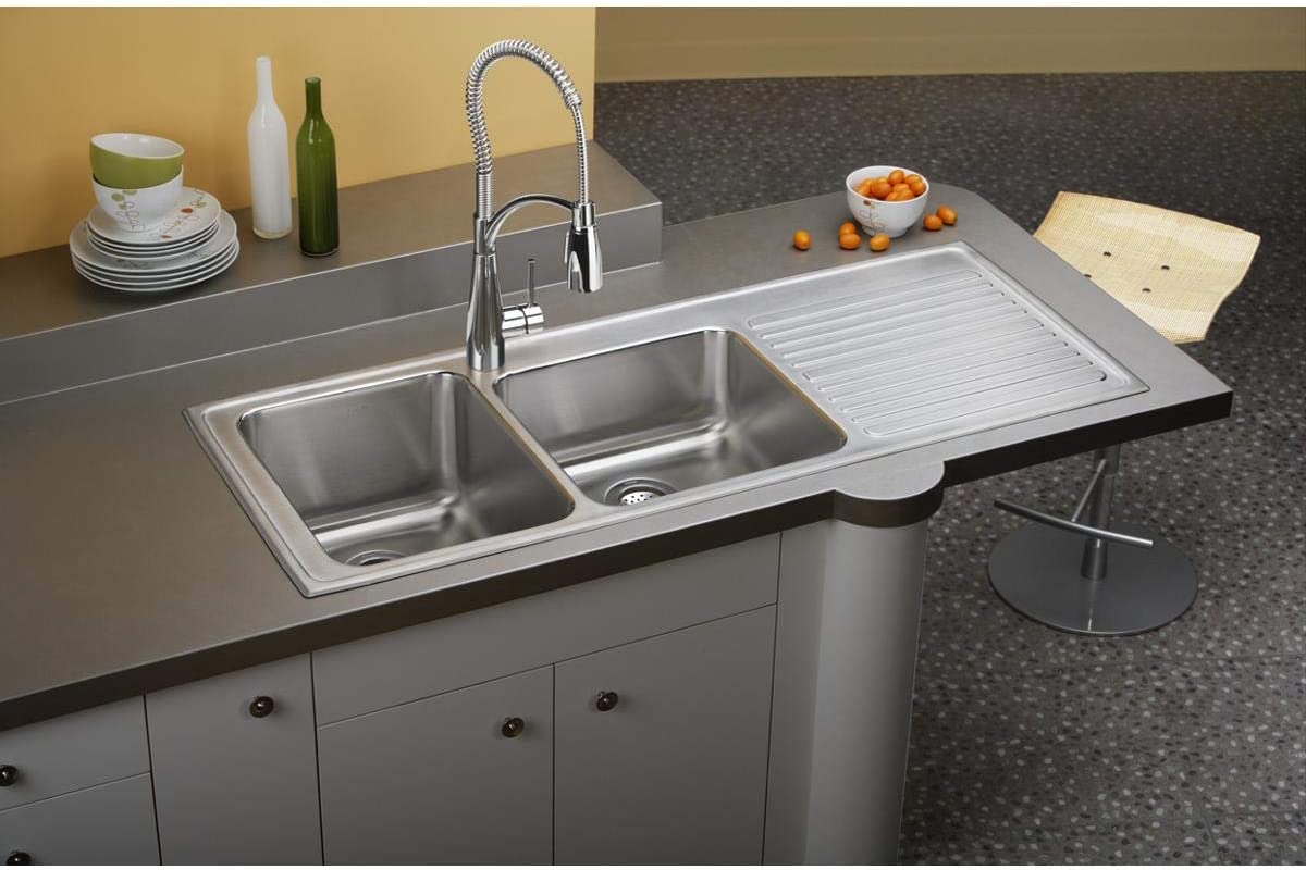 Elkay ILGR5422L1 Sink, 57 , Lustrous Satin