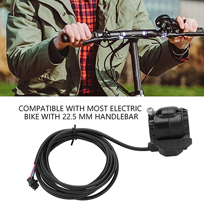 New Daumen Gasregler Mit Kable Für Fahrrad E-Bike Werkzeug 165mm Länge Use