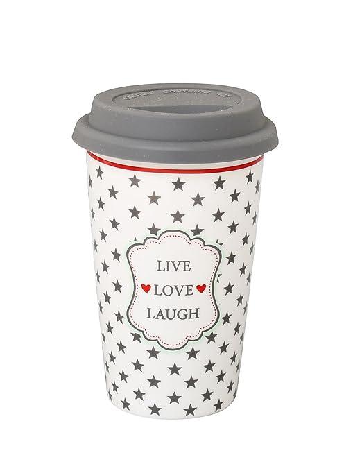 Bicchiere Da Passeggio Live Love Laugh Lingua Inglese Amazonit