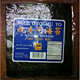 Sushi Nori Seaweed Sheets - 50 Sheets - Blue Gyoumu Yo Premium Quality 5.29-Ounce Sealed Pouche