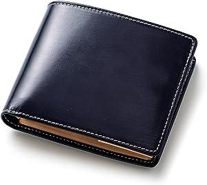 [ブリティッシュグリーン] 二つ折り財布 英国製ブライドルレザー使用 財布 メンズ