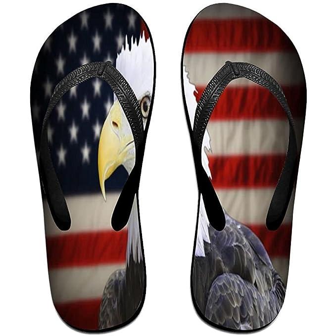 Unisex Non-slip Flip Flops Retro Eagle Flag Cool Beach Slippers Sandal