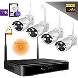 smartwares 4 kanal kamera sicherheitssystem mit drahtlosem. Black Bedroom Furniture Sets. Home Design Ideas
