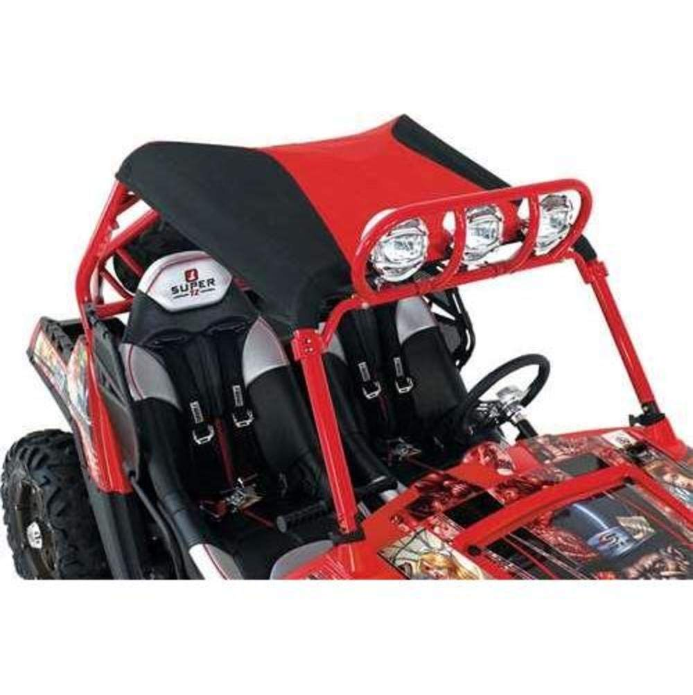 Speed Industries Bimini Top - Black/Red 875-201-82