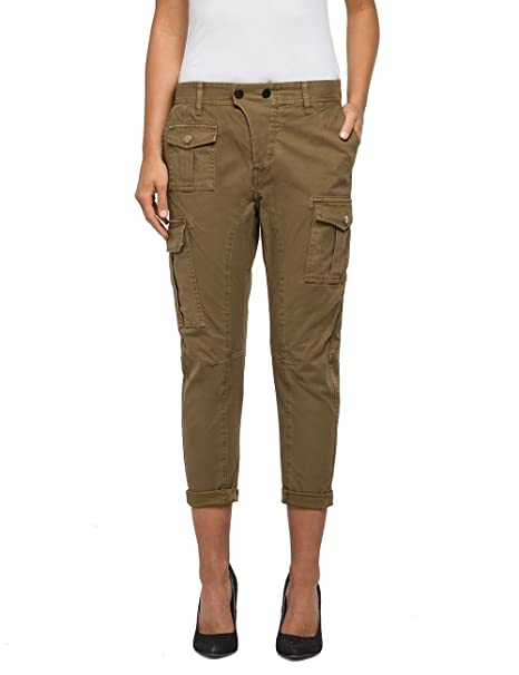 it Donna Pantaloni Replay Abbigliamento Amazon Uwqvq4tx