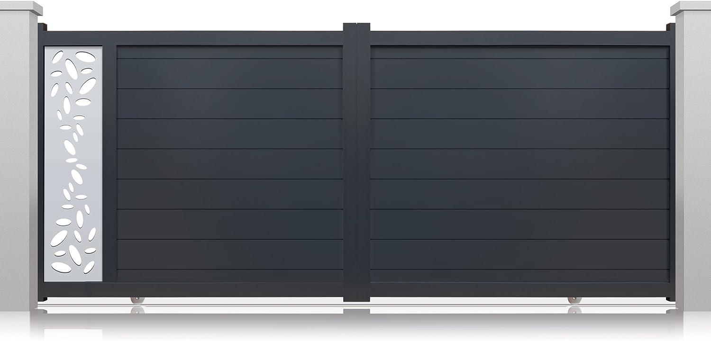 Puertas correderas Perso + modelo Canto de aluminio motoriser gris ...