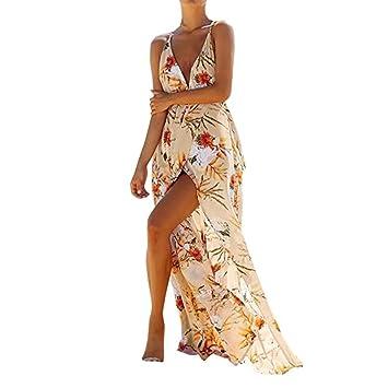 Vestidos Mujer Verano 2018,Mujeres flor sin mangas sexy larga noche vestido de fiesta de