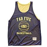 Michigan Fab Five Basketball Mesh Reversible, Navy/Yellow, Large
