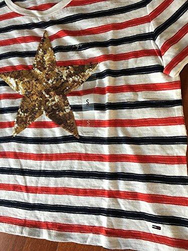 Tommy Hilfiger T-Shirt, Women's Stripe Signature Belly T-Shirt, Large