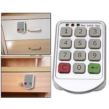 Zunate Electronic Cabinet Lock Kit Set Elektronisches Tastatur