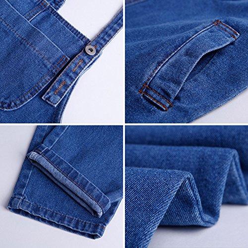 para Ocamo Marino Marino Diseño Azul Cortos Pantalones cm Vaqueros 160 de Azul Niña Pantalones HHa6EqArR