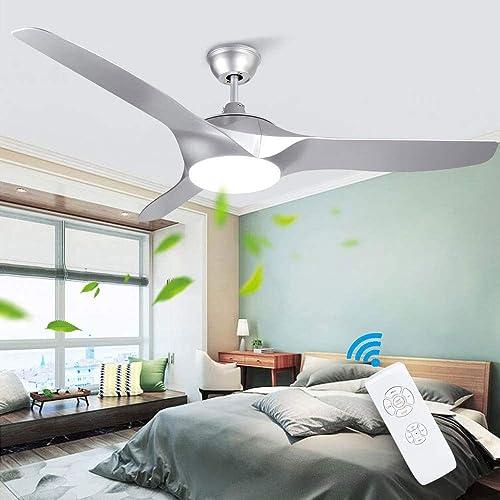 Depuley 52-Inch Flush Mount Ceiling Fan Light