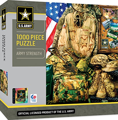 MasterPieces U.S. Army Strength - Army Modern Memorabilia 1000 Piece Jigsaw Puzzle by Dona ()