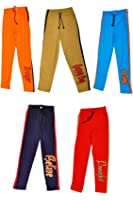 Laraa Multicolour cotton kids track pant for boys and girls(pack of 5)