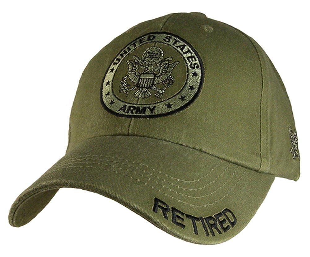e5f86b3cf4a Amazon.com  Eagle Crest U.S. Army Retired Distressed Green Baseball ...