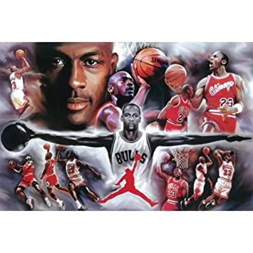 Michael Jordan Collage 24 x 36
