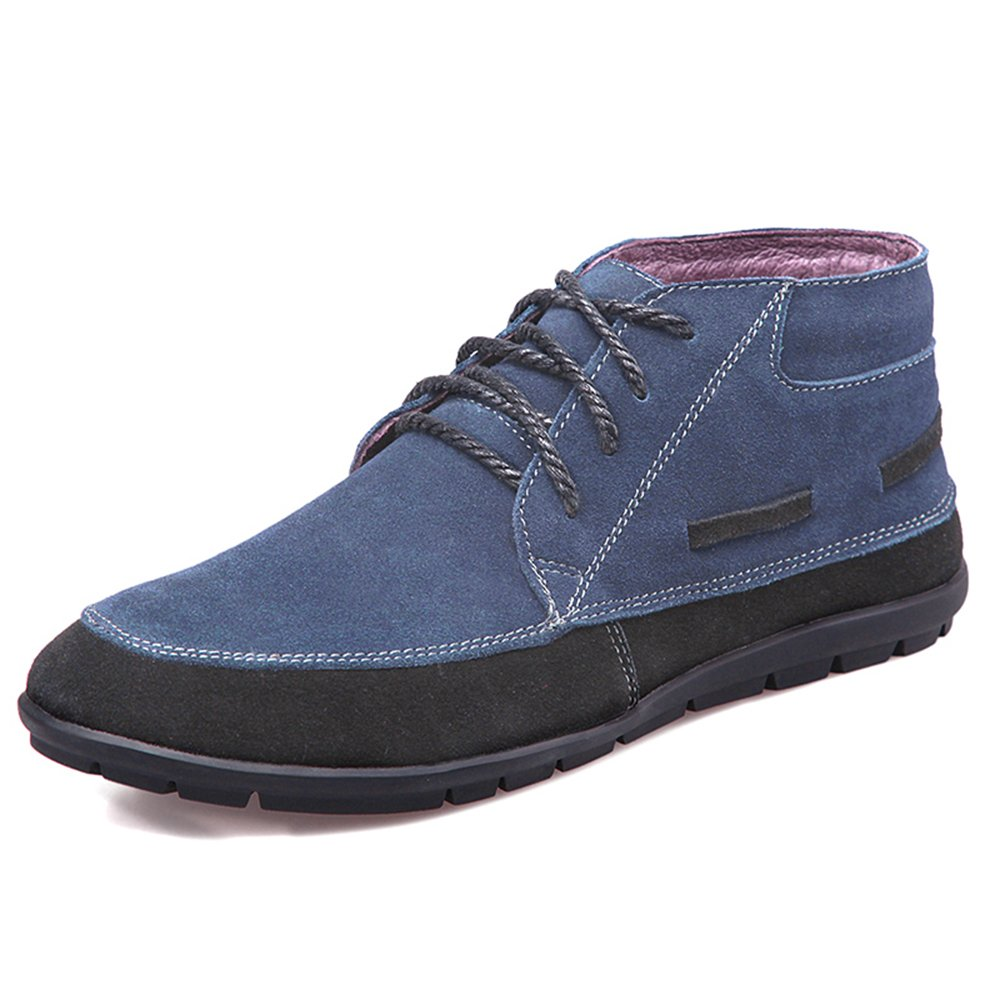 Men's Slip-Resistant Casual Leather Shoes for Daily Walking, Hiking and Outdoor Activities H108-41Be