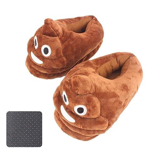 Emoji Zapatillas Suave Zapatillas Lindo Peluche de Dibujos Animados Poop Unisex,Anti-Slip Zapatillas