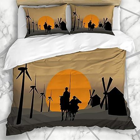 HARXISE Ropa de Cama - Funda nórdica Horizonts Toledo Don Quijote De La Mancha Energía España Cervantes
