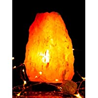 [2-3Kg] Himalayan Natural Rock Salt Lamps with Dimmer Switch. Natural Ionizer. Pyramid, Cylinder, Globe, Fire Bowl and…
