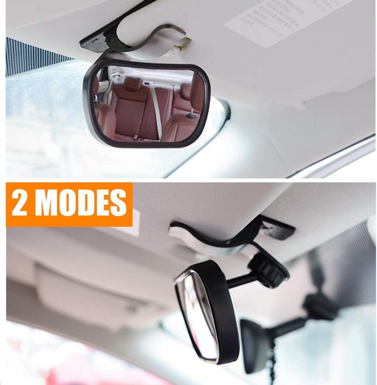 360/° Ajustable Inastillable Interior Espejo Coche Beb/é Espejo de Seguridad para Ni/ños STARPIA 2PCS Beb/é Espejo Retrovisor de Coche para Vigilar Beb/é en Coche Ventosa /& Clip