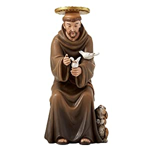 Seated Saint Francis of Assisi Hummel Statue, 6 Inch