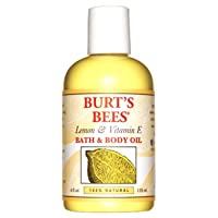 Deals on Burts Bees 100% Natural Lemon & Vitamin E Body & Bath Oil 4 oz